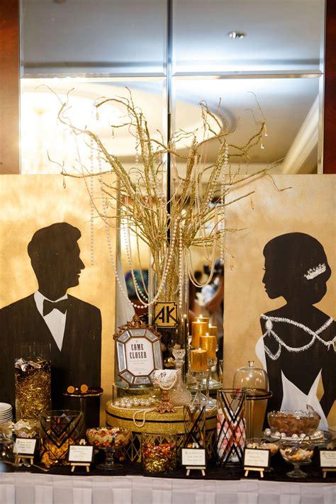 great gatsby candy bar blissful brides wedding
