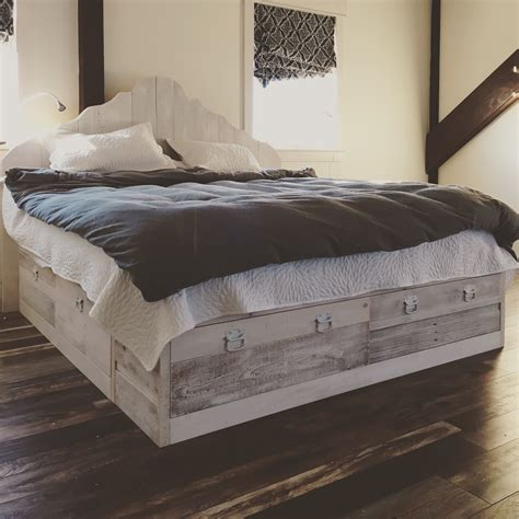 ana white  scrap wood storage bed diy projects