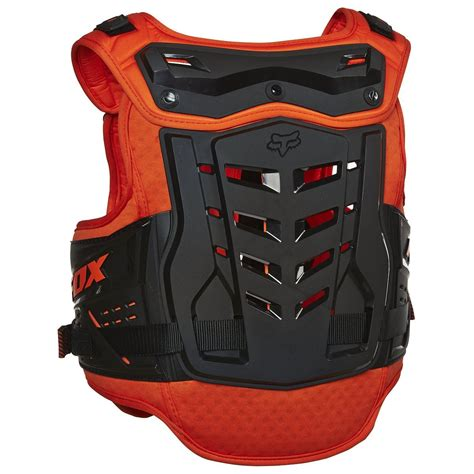 fox motocross body armour fox racing new mx proframe raptor black orange youth