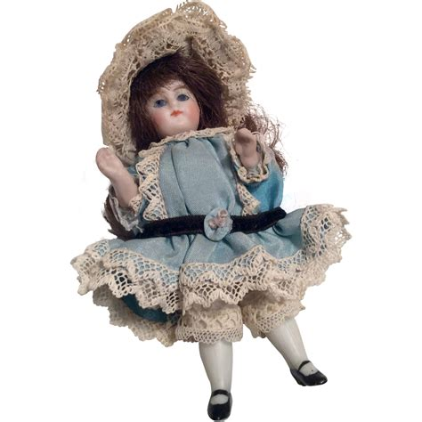bisque doll with glass well dressed german all bisque antique doll glass