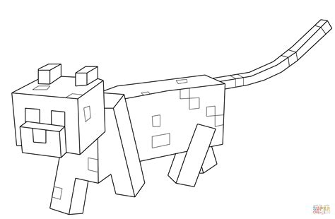 Minecraft Ocelot Coloring Pages minecraft ocelot coloring page free printable coloring pages