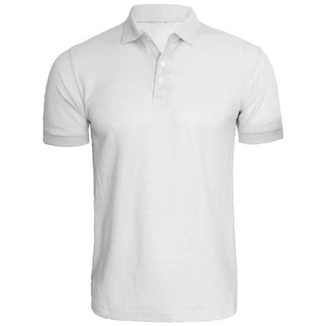 Plain Sleeve Polo Shirt mens new plain sleeve shirt pique polo t shirt style