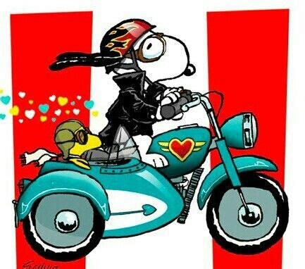 Motorrad Spr Che Dog Tag by Peanuts Snoopy Woodstock On Motorcycle Motorcycles