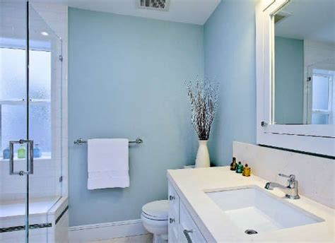 pale blue bathrooms the best paint colors for low light rooms powder paint