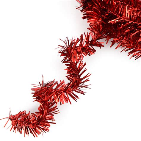 metallic tinsel roping red 25 feet xg447824