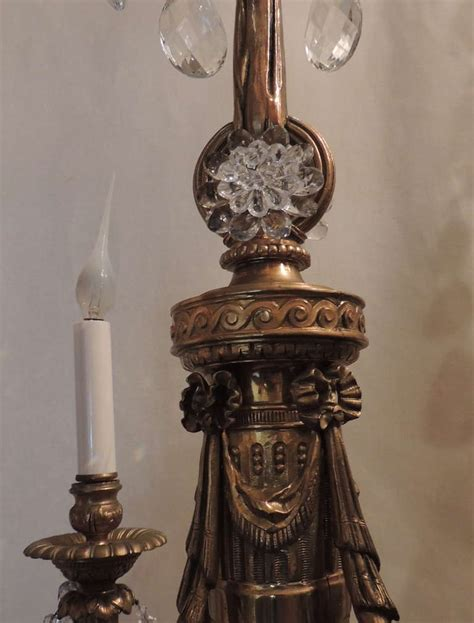 Beaded Light Fixture A Gilt Bronze And Four Light Fixture With Beaded Swags At 1stdibs