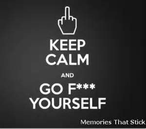 Red Wall Stickers keep calm and go f yourself