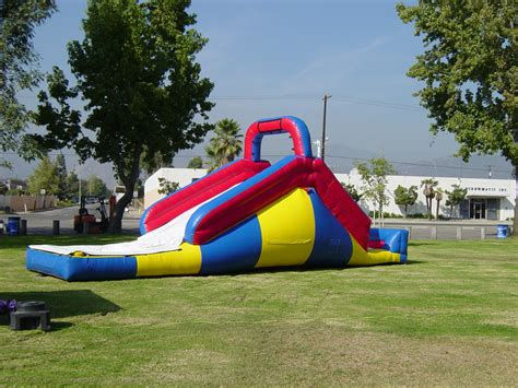 backyard slides deluxe inflatable backyard water slide with ball pit