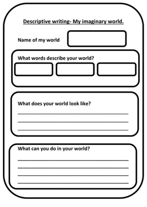 Descriptive Writing Template