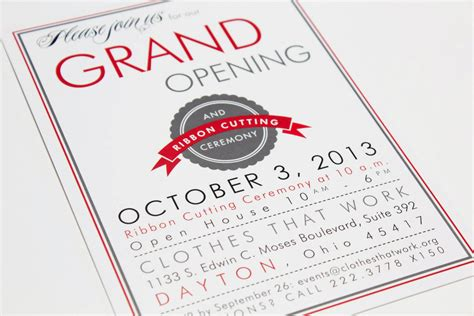 invitation card design for grand opening clothes that work the envelope