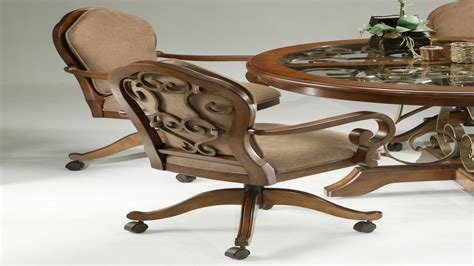 dining room chairs with wheels sets with caster chairs