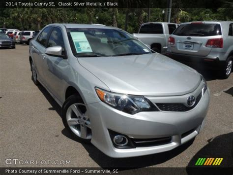 2014 Toyota Camry Silver Classic Silver Metallic 2014 Toyota Camry Se Black