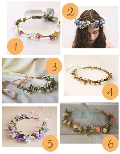 How To Make A Flower Crown Out Of Paper - woodland flower crowns polka dot