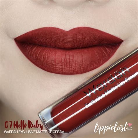 Lipstik Inez No 10 swatch review wardah exclusive matte lip 12