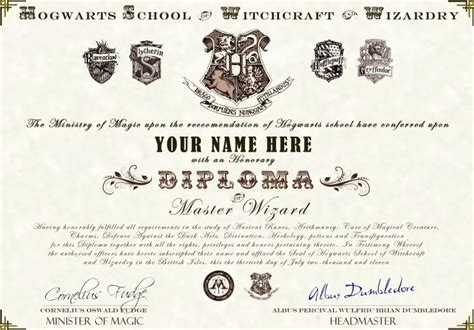 harry potter certificate template harry potter hogwarts diploma certificate ultra high
