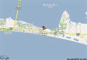Miramar Florida Map by Map Of Candlewood Suites Destin Miramar Beach Destin