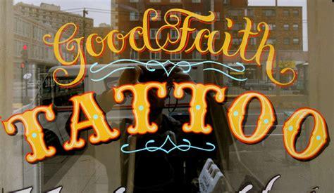 tattoo hand painted signs good faith tattoo bestdressedsigns com