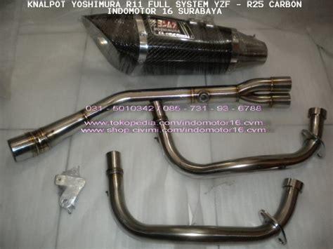 Knalpot System Yzf R25 Yoshimura R11 knalpot yoshimura r11 yzf r25 carbon syst indomotor 16 shop