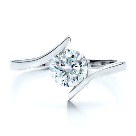 Tension Set Engagement Rings by Contemporary Tension Set Solitaire Engagement Ring 1481