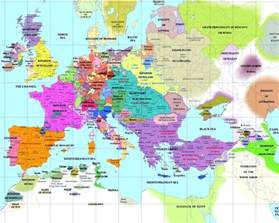 Europe 1500 Outline Map by European History Maps
