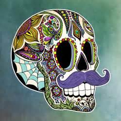 mustache sugar skull digital art by tammy wetzel
