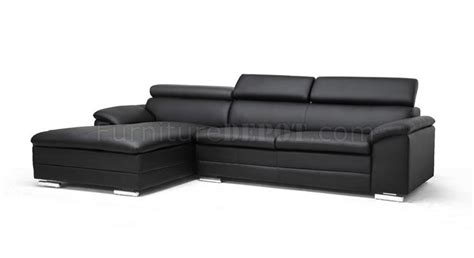 franklin sectional sofa black faux leather wholesale