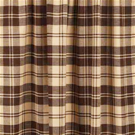 brown check curtains millville check brown shower curtain