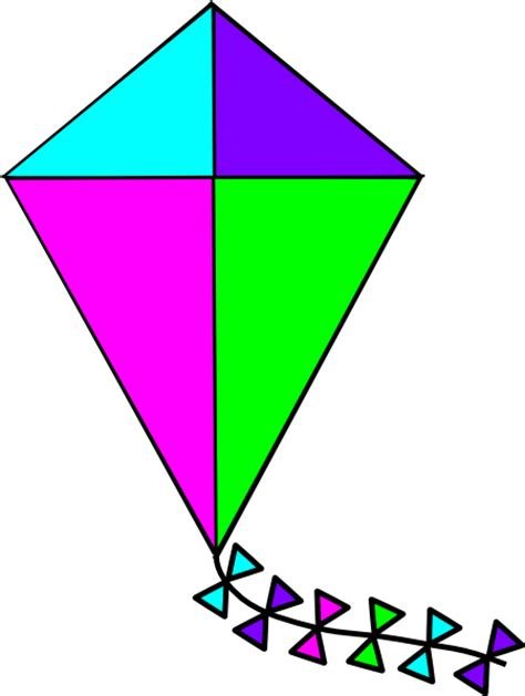 Clipart Kite bright colors kite clip at clker vector clip royalty free domain