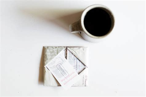 origami wallet from a coffee bag giving back with