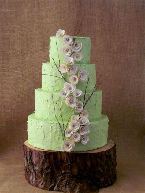 rustic green wedding cake the twisted sifter