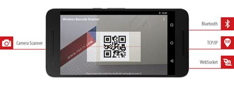 barcode reader app for android wireless barcode scanner for android bluetooth tcp websocket