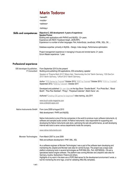 30 best developer software engineer resume templates
