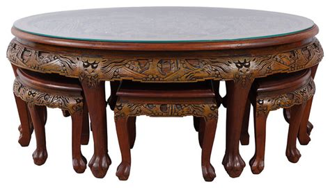 Carved Coffee Table With Stools by Antique Coffee Table Best 2000 Antique Decor Ideas