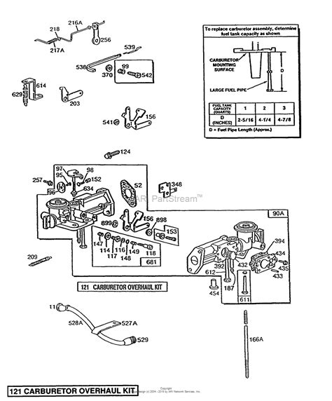 briggs and stratton carb diagram briggs and stratton 080232 1630 01 parts diagram for pull