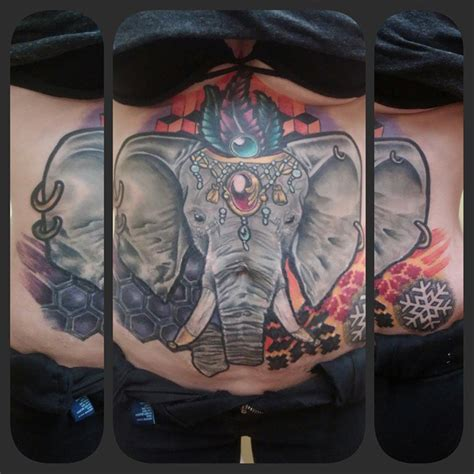 elephant tattoo on lower stomach 75 gorgeous stomach tattoos designs meanings 2018