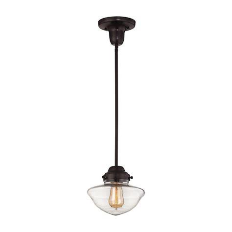 rubbed bronze pendant light titan lighting schoolhouse pendants 1 light rubbed