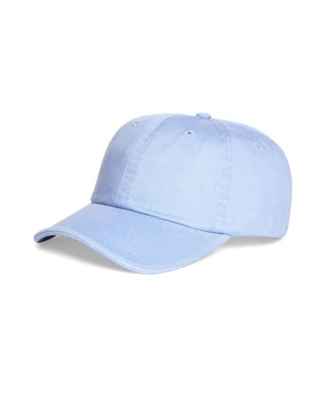 light blue mlb hats lyst brooks brothers faded color baseball cap in blue