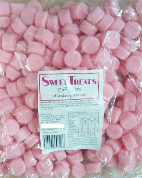 1kg Strawberry Coldfil Flavour Puratos pink jubes bulk confectionery shindigs au