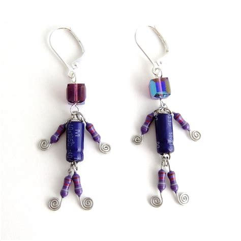 capacitors and resistors lucky capacitor and resistor robot earrings by techcycle on deviantart