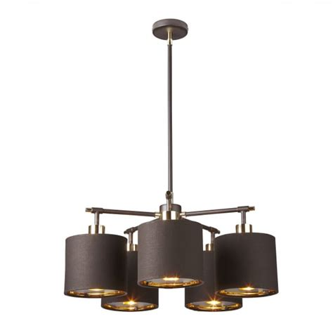 Brown Ceiling Light Contemporary Brown Ceiling Light With Gold Lined Chocolate Shades
