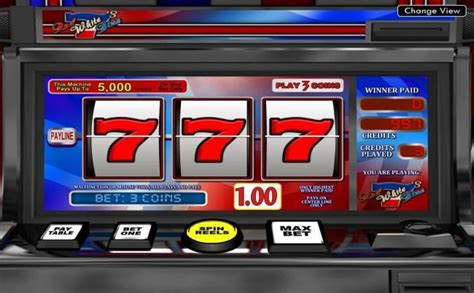 red white blue   demo slot machine   american patriotism concept   lines