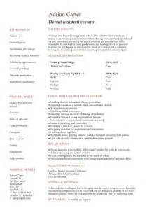 Dentist Resume Template by Student Entry Level Dental Assistant Resume Template
