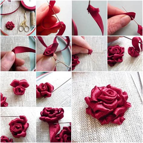 diy ribbon roses that look delicate and pretty ribbon