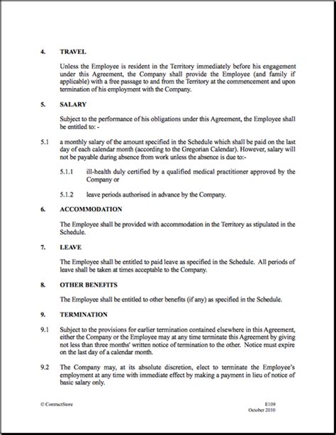 employment contract form  printable documents