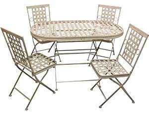 metal patio table and chairs uk maribelle folding metal outdoor garden patio dining table