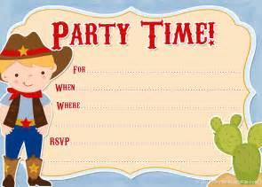 free printable invitations free printable cowboy invites