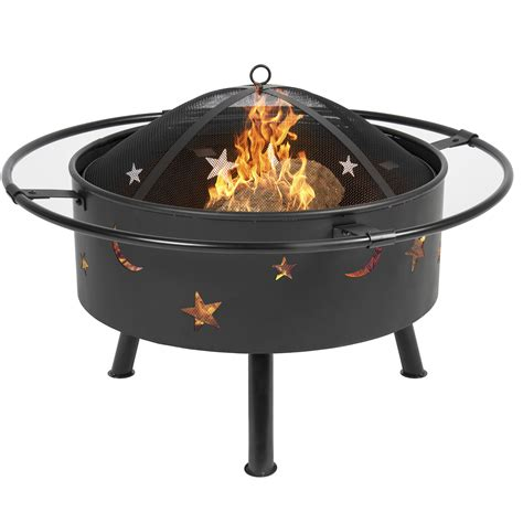 Firepit And Grill Best Choice Products 30 Quot Pit Bbq Grill Firebowl Patio Fireplace Firepit Ebay