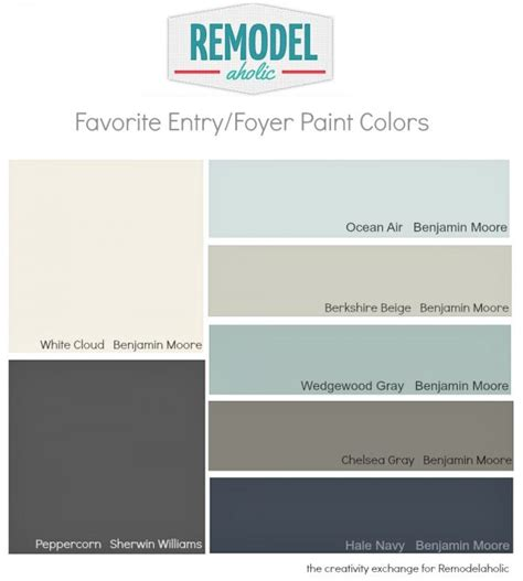 remodelaholic favorite entryway and foyer paint colors
