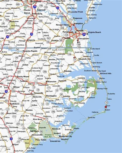 map of outer banks nc outer banks vacation guide outer banks maps outer banks directions outer banks
