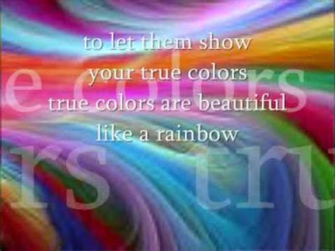 true colors cyndi lauper lyrics true colours by cyndi lauper with lyrics